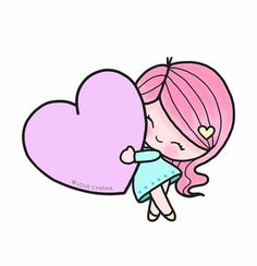 Cute Cartoon Girl, Cartoon Kids, Art Drawings For Kids, Easy Drawings, Cute Images, Cute Pictures, Kawaii Doodles, Cute Clipart, Poster Layout