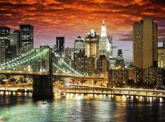 #wallpaper - Brooklyn Bridge - rebelwalls.com