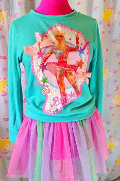 Barbie sweater 80s sweatshirt ice skate 90s by missalphabet