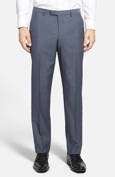 Free shipping and returns on BOSS HUGO BOSS 'Sharp' Flat Front Wool Trousers at Nordstrom.com. Finely textured virgin wool forms clean-cut trousers fashioned in a versatile flat-front style.