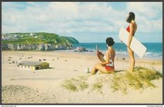 The Beach, Perranporth, Cornwall, 1980 - Constance Postcard