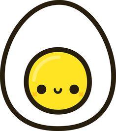 Yummy egg by peppermintpopuk Cute Food Drawings, Mini Drawings, Cute Little Drawings, Cute Cartoon Drawings, Art Drawings For Kids, Cute Kawaii Animals, Cute Animal Drawings Kawaii, Arte Do Kawaii, Kawaii Art