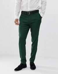 Buy ASOS DESIGN wedding skinny suit trousers in forest green micro texture at ASOS. With free delivery and return options (Ts&Cs apply), online shopping has never been so easy. Get the latest trends with ASOS now. Asos, Trouser Suits, Trousers, Forest Green Dresses, Maroon Pants, Mens Dress Pants, Suit Pants, Skinny Suits, Pantalon Costume