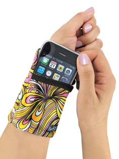 Phone Wrist Wallet - Travel light! Keep cash, cards and your phone secure on your wrist. This stretchy, zippered wrist wallet has room for all the necessities on your trip.