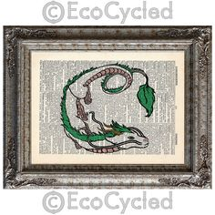Hey, I found this really awesome Etsy listing at https://www.etsy.com/listing/172481745/haku-the-dragon-on-vintage-upcycled
