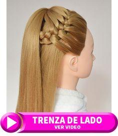 peinados semirecogidos con trenza de lado Anime, Fashion, Hairstyles Videos, Fingernail Designs, Free Downloads, Wedding, Moda, Fashion Styles, Cartoon Movies