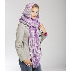 """Majestic Hooded Scarf Pattern/ intermediate / use bulky yarn / fin. size:  72"""" x 22""""/ FREE CROCHET pattern"""