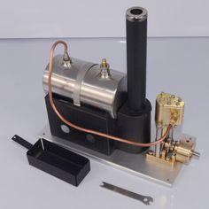 Steam Engine Kit Vertical Steam Engine Model with the Boiler for Live Steam Locomotive Mini Steam Engine, Live Steam Locomotive, Steam Toys, Stirling Engine, Iron Steamer, Steam Boiler, Safety Valve, Engine Types, Mechanical Engineering