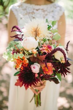 Marsala Fall Bouquet || Eugene Wedding Photographer  || Jane in the Woods || Jasper House Farm Wedding || Sedona Wedding Photographer
