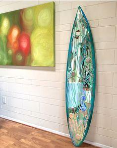 """Newport"" Mirror Mosaic Surfboard                                                                                                                                                     More"