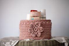Crochet basket 30$ usd orders can be placed on etsy or pm me.#etsyseller #etsyhandmade #tabledecor #loveit #sousplat #decoration #country #homesweethome #homedesign #like4like #likesforlikes #instagood #instalike #love #blue #flowers #etsymom #elegant #crochet #receberbem #donadecasa #mesaposta #euroroma #knitting #knittinglove #basket #crochetbasket #country