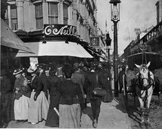 sixth ave.  20thstreet / In 1901, when this first photo was taken, Sixth Avenue and 20th Street was the center of the city's posh shopping district.