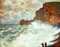 Claude Monet - Stormy Weather at Etretat - 1883