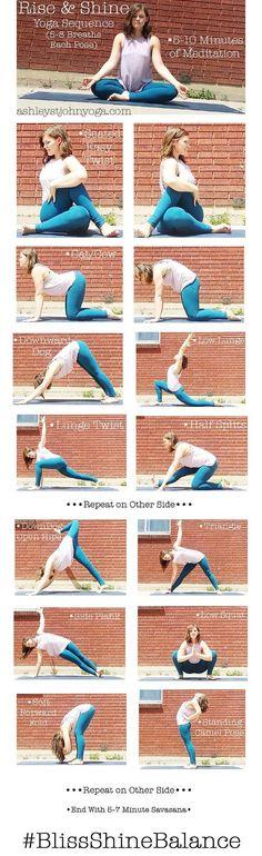 Rise & Shine AM Yoga Sequence ashleystjohnyoga.com