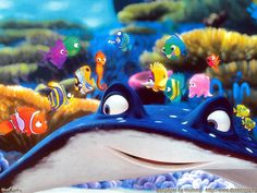 no, I'd never seen Finding Nemo before this past weekend. An early Pixar entry, Nemo was released well . Disney Pixar, Disney Cartoons, Walt Disney, Disney Magic, Disney Dinner, Finding Nemo 2003, Underwater Sea, Pixar Movies, Ocean Themes