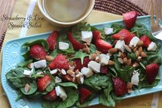 Strawberry & Brie Spinach Salad   Kathy's Kitchen Table