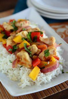 Chicken and Mango Basil Stir Fry