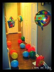Cool idea for kids to wake up to on their birthday