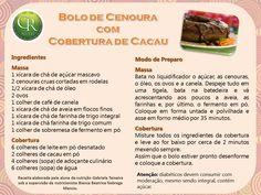 Reeducação Alimentar com Alimentação Saudável: Bolo de Cenoura com Cobertura de Cacau