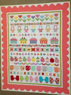 dream quilt create: Bee in my Bonnet Row Along, quilted!!!