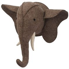 Enhance your little one's bedroom décor with the Mud Pie Felt Elephant Wall Mount. This handcrafted work of art will add a whimsical flair to the room. Coordinate with other Mud Pie felt wall mounts for a fun, animal theme. Nursery Monogram, Monogram Wall, Nursery Wall Decor, Nursery Design, Nursery Ideas, Elephant Head, Grey Elephant, Giraffe, Plush Animals