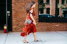 Street style at Fashion Week spring-summer 2017 New York