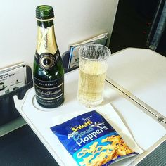 And of course @feelfinnair famous marimekko champagne glass high in the sky great taste  #champagne #feelfinnair #finnair #helsinki #paris #airport #flight #famous #luxury #lifestyle #marrimekko #nicolasfeuillatte #snack #drinks #alcohol #service #crew #frequentflyer #avgeek #airbus #a320 #instalike #instagood #business #class by travelwithmelih