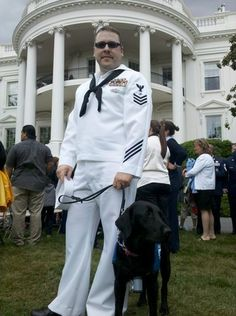 Our Veteran Service Dogs have been seen in some very important places.