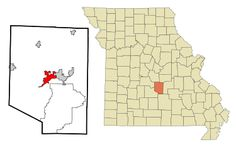 Location of Waynesville, Missouri