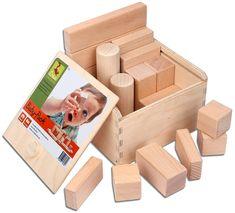 Holz Brillant Altes Holzbauklötze Set Haus