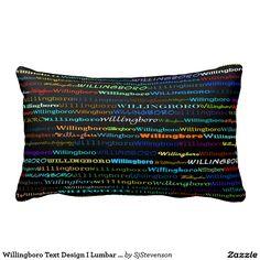 Willingboro Text Design I Lumbar Pillow