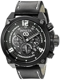 Invicta Mens 18935 Corduba Analog Display Quartz Black Watch ** Details can be found by clicking on the image.