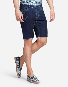 Buy the denim shorts for men in blue. Choose from our wide selection on Dolce&Gabbana. Dolce And Gabbana Jeans, Grey And White, Jean Shorts, Man Shop, Mens Fashion, Model, How To Wear, Shopping, Clothes