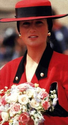 September 9, 1987: Princess Diana during a visit to Normandy, France.