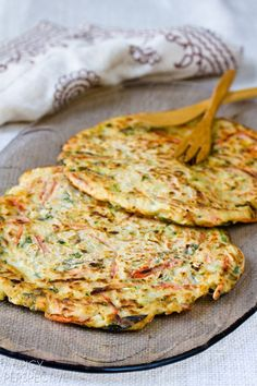 Korean Vegetable Pancakes - Pajun (Pajeon) with Spicy Soy Dipping Sauce | ASpicyPerspective.com