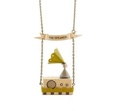The Speaker Necklace / Vintage Style Speaker with Stereo by ByBeep, $78.00