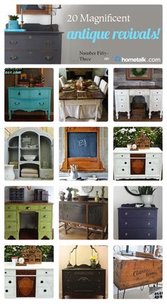 Beautiful antiques that were brought back to life!