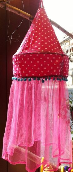 Lampenschirm Stoff pink Tupfen Schleier Tüll Kinder Lampe Deckenlampe Leuchte in Möbel & Wohnen, Beleuchtung, Lampenschirme   eBay