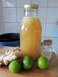 Lacto-fermented ginger ale, recipe from Nourishing Traditions