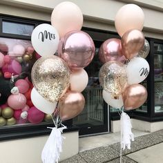 Engagement Balloons, Engagement Party Decorations, Diy Birthday Decorations, Wedding Balloons, Balloon Decorations, 16 Balloons, Bridal Shower Cupcakes, New Years Eve Weddings, Balloon Gift