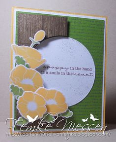 made by femke niessen. card made for MFTWSC134.  dienamics: poppies and leaves, pierced circle stax. stamps: pretty poppies, western backgrounds.