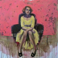 """Saatchi Online Artist: TAURUA Pascale; Oil, Painting """"Red lips"""""""