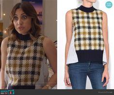 Ana's mix fabric sleeveless top on Grown-ish.  Outfit Details: https://wornontv.net/93864/ #Grown-ish