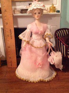 Hazel Mini Dolls - porcelain figure dressed in Victorian outfit; sold on ebay for $60.99