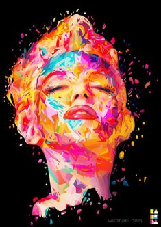 MARILYN MONROE # 10 ART 25 Colorful Oil Painting Masterpieces around the world