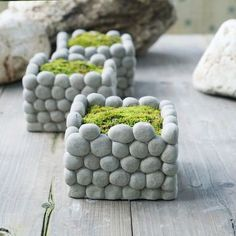 Hydroponic gardening 570901690249039387 - AIBEI-Creative breathable Stone Flower Pot Micro landscape Square Rectangle Succulents Hydroponics cement Small Garden Pots(China (Mainland)) Source by roviichavie Small Garden Pots, Diy Garden, Garden Planters, Small Gardens, Garden Projects, Rock Planters, Balcony Garden, Garden Landscaping, Garden Ideas