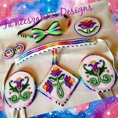 Gorgeous Powwow Beadwork, Native Beadwork, Native American Beadwork, Beaded Moccasins, Beadwork Designs, Native Design, Nativity Crafts, Beading Projects, Bead Earrings