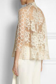 Biyan|Semolina lace blouse|NET-A-PORTER.COM