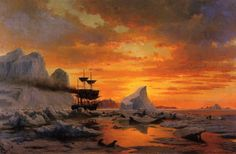 William Bradford - Ice Dwellers Watching the Invaders,      1879