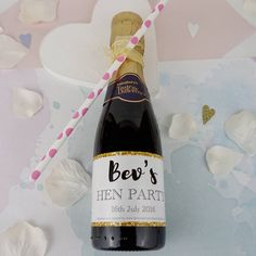 Hen Party Mini Champagne Labels X10 - Must Haves <3